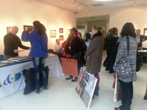 Aspiring artists line up to have their portfolios looked at during BBAC's College Day.