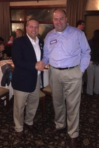 Rochester Hills Mayor, Bryan Barnett, Congratulates Michael Webber on his Win