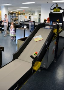 Rochester Hills Public Library's new automated materials handling system  - Photo by Michael Dwyer