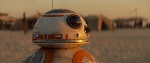 BB-8 takes on the Role of R2-D2 in The Force Awakens