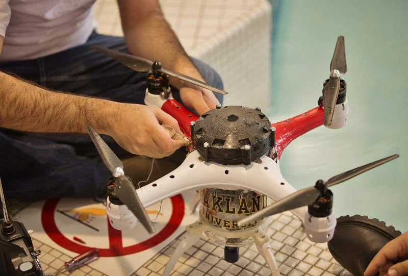 Oakland University Team sends the Loon Copter to Drones for Good Competition