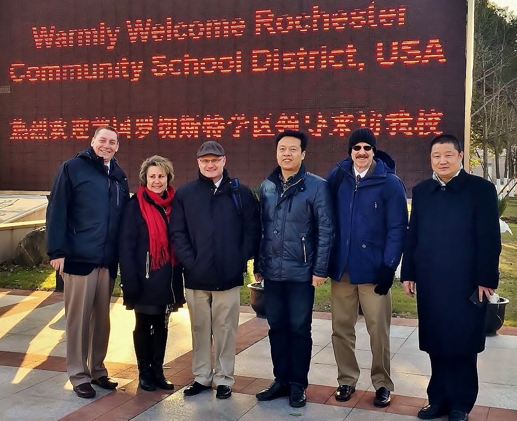Chinese school officials welcome RCS administrators - photo by Rochester Community Schools