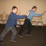 Wu Style Tai 1 Chi Chuan - Brush Knee and Push form - photo by Michael Dwyer