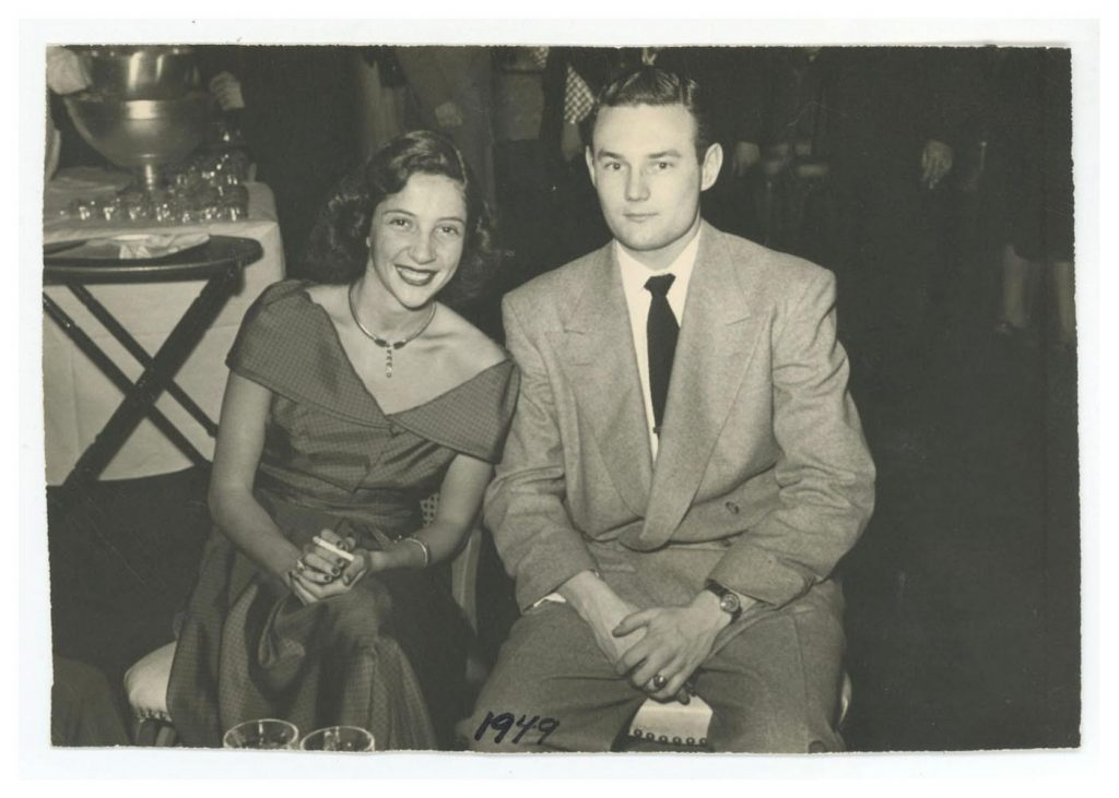 Black and White photo of Carol and Ian Beaton from 1949