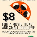 Flier for Library Movie Nights