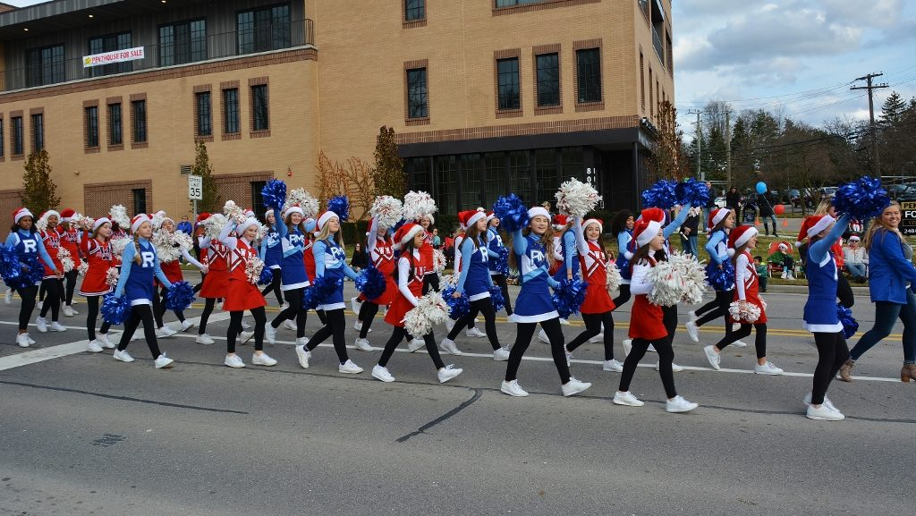 Joining forces is the Reuther & West Middle School Cheer Teams - photo by Michael Dwyer