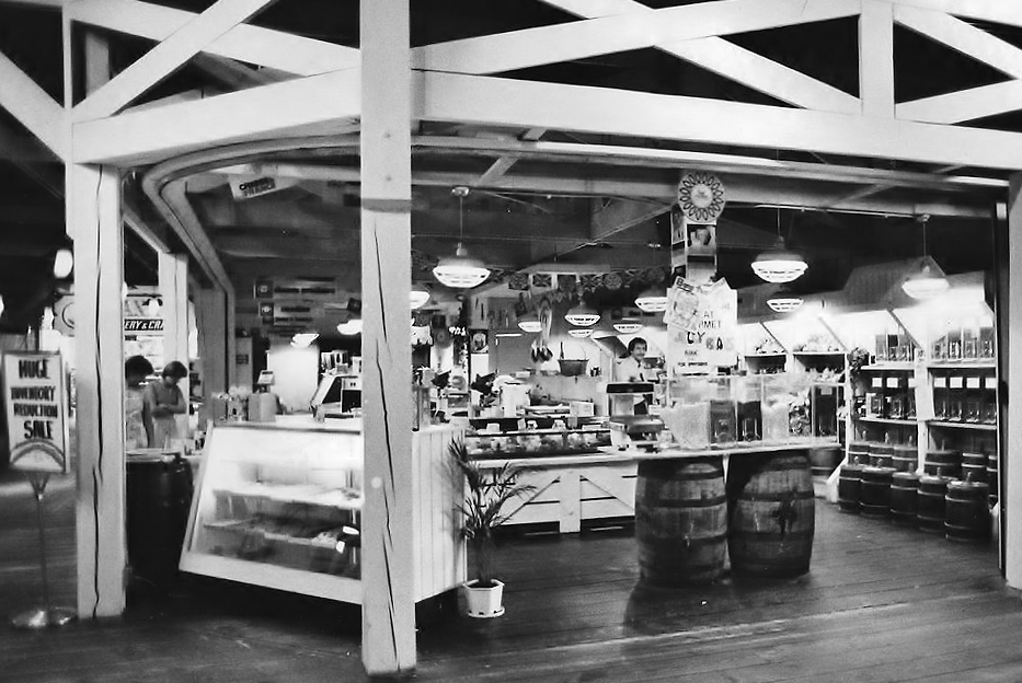 One of the inside corner stores of the old mall