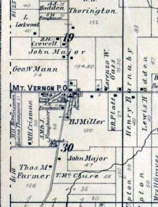 1895 plat map of Mt. Vernon
